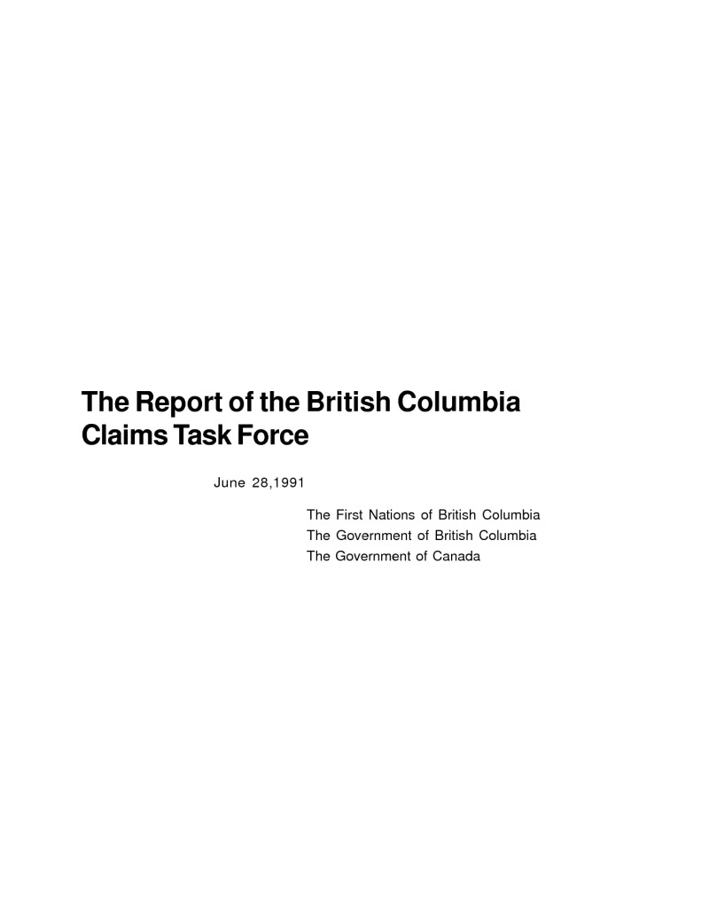 thumbnail of bc_claims_task_force_report_1991