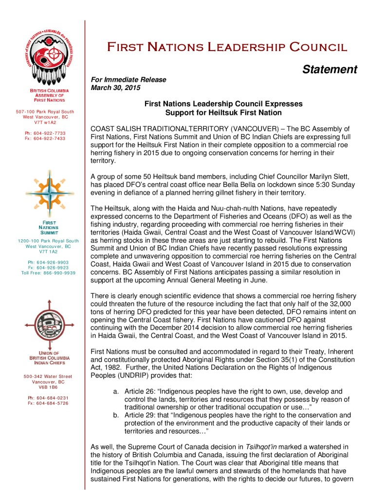 thumbnail of FNLC_Statement_re_Heiltsuk_opposition_to_herring_fishery-2015-03-30