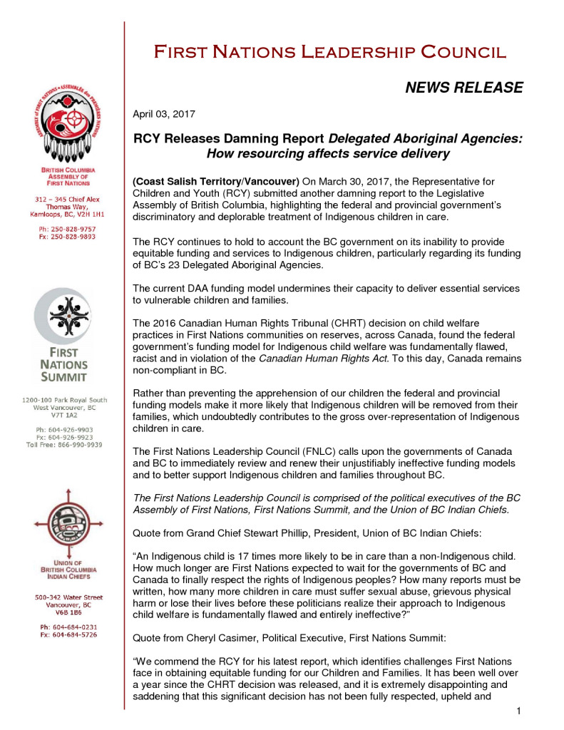 thumbnail of RCY Releases Damning Report Delegated Aboriginal Agencies: How resourcing affects service delivery
