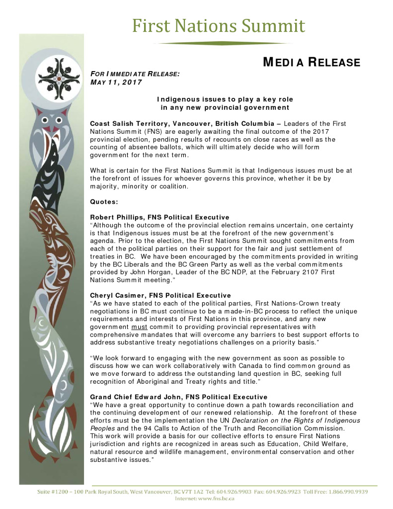 thumbnail of Indigenous issues to play a key role in any new provincial government