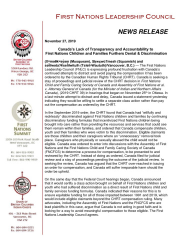 thumbnail of 2019Nov27_FNLC Statement on CHRT Appeal
