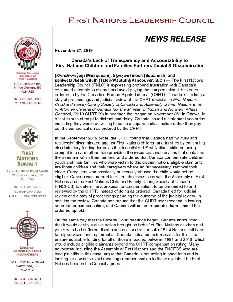 thumbnail of 2019Nov27_FNLC Statement on CHRT Appeal