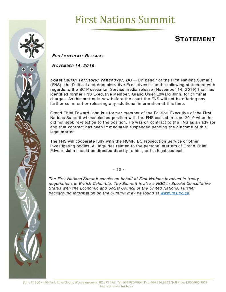 thumbnail of FNS statement re GCEJ Nov 14 2019