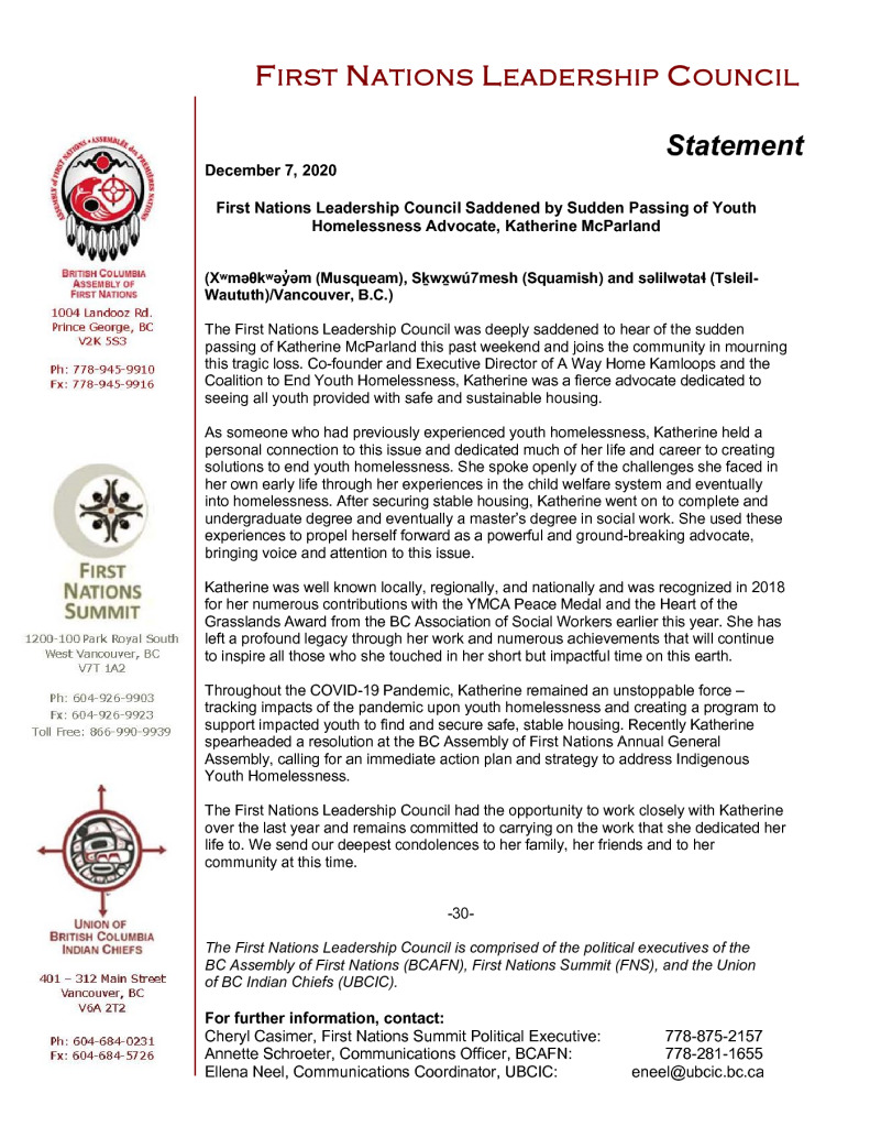 thumbnail of 2020DEC07_FNLC Statement on Passing of K. McParland